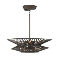 Kai 6 Light 28 inch Oil Rubbed Bronze Chandelier Ceiling Light