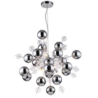Proton 8 Light 26 inch Chrome Chandelier Ceiling Light