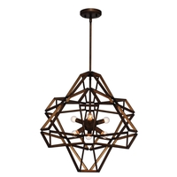 Zeev Lighting CD10146/6/CB-GD Unity 6 Light 23 inch Chestnut Bronze Chandelier Ceiling Light photo thumbnail