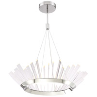Halo LED 36 inch Stainless Steel Chandelier Ceiling Light
