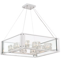 Zeev Lighting CD10152/8/SL Cavern 8 Light 25 inch Silver Leaf with Clear Crystal Chandelier Ceiling Light