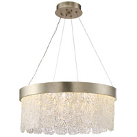 Arctic LED 24 inch Silver Leaf and Antique Gold Chandelier Ceiling Light