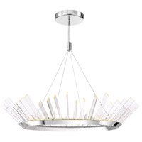 Halo LED 47 inch Stainless Steel Chandelier Ceiling Light