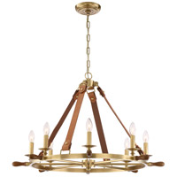 Zeev Lighting CD10161/8/AGB Carlisle 8 Light 34 inch Aged Brass Chandelier Ceiling Light