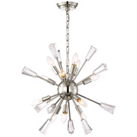 Zeev Lighting CD10168/12/PN Muse 12 Light 24 inch Polished Nickel Chandelier Ceiling Light