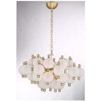 Rondure 10 Light 24 inch Polished Brass Chandelier Ceiling Light