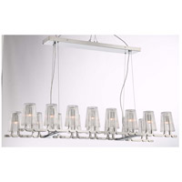 Zeev Lighting CD10185/16/CH Glacial 16 Light 17 inch Chrome with Ribbed Glass Chandelier Ceiling Light