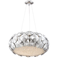 Zeev Lighting CD10187/7/CH Crown 7 Light 23 inch Chrome with Crystal Chandelier Ceiling Light