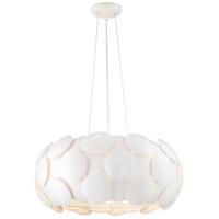 Zeev Lighting CD10189/7/GWH Crown 7 Light 23 inch Gloss White Chandelier Ceiling Light