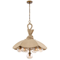 Du Jour 7 Light 28 inch Antique Brass Chandelier Ceiling Light