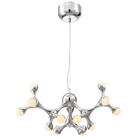 Zeev Lighting CD10196/LED/CH Molecule LED 28 inch Chrome with Acrylic Shade Chandelier Ceiling Light