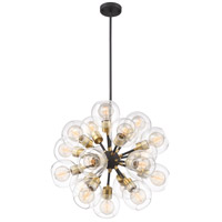 Zeev Lighting CD10198/18/PB+MBK Pierre 18 Light 24 inch Polished Brass and Matte Black Chandelier Ceiling Light