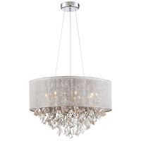 Zeev Lighting CD10202/7/CH Pax 7 Light 21 inch Chrome with Crystal Chandelier Ceiling Light