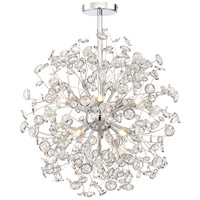 Meadow 10 Light 21 inch Chrome Chandelier Ceiling Light