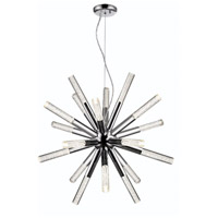 Zeev Lighting CD10234/LED/CH Empire LED 27 inch Chrome with Seeded Acrylic Chandelier Ceiling Light