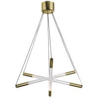 Zeev Lighting CD10235/LED/GB Empire LED 28 inch Golden Brass Chandelier Ceiling Light