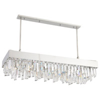 Zeev Lighting CD10240/12/PN Cuspis 12 Light 18 inch Polished Nickel with Custom Moulded Crystals Chandelier Ceiling Light