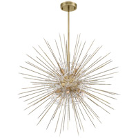 Zeev Lighting CD10264/8/AGB Flare 8 Light 36 inch Aged Brass with Acrylic Chandelier Ceiling Light