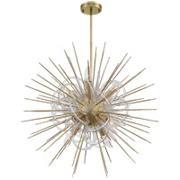 Zeev Lighting CD10266/8/AGB Flare 8 Light 24 inch Aged Brass with Acrylic Chandelier Ceiling Light