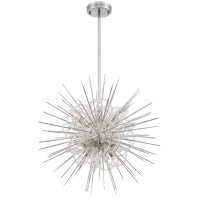Zeev Lighting CD10267/8/PN Flare 8 Light 24 inch Polished Nickel with Acrylic Chandelier Ceiling Light