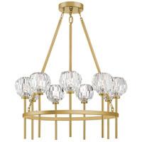 Zeev Lighting CD10270/9/AGB Parisian 9 Light 26 inch Aged Brass Chandelier Ceiling Light