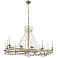 Zeev Lighting CD10274/12/AGB Greenwich 12 Light 20 inch Aged Brass with Crystal Chandelier Ceiling Light
