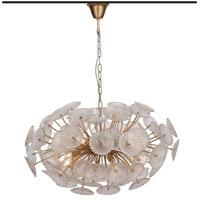 Zeev Lighting CD10288/10/GD Floral 10 Light 32 inch Gold with Glass Chandelier Ceiling Light