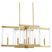Zeev Lighting CD10296/6/PB Regent 6 Light 14 inch Polished Brass with Acrylic Chandelier Ceiling Light