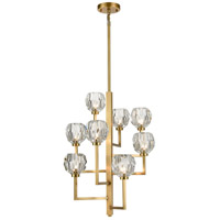 Zeev Lighting CD10305/8/AGB Parisian LED 20 inch Aged Brass Chandelier Ceiling Light