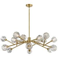 Zeev Lighting CD10307/18/AGB Parisian LED 49 inch Aged Brass Chandelier Ceiling Light