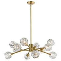 Zeev Lighting CD10309/12/AGB Parisian LED 35 inch Aged Brass Chandelier Ceiling Light