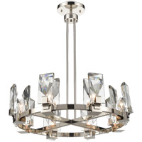 Zeev Lighting CD10347/8/PN Horizon 8 Light 32 inch Polished Nickel Chandelier Ceiling Light photo thumbnail