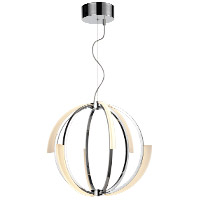 Zeev Lighting CD10349/LED/CH Moonlight LED 22 inch Chrome Chandelier Ceiling Light