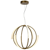 Zeev Lighting CD10350/LED/AGB Moonlight LED 26 inch Aged Brass Chandelier Ceiling Light