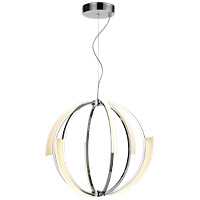 Zeev Lighting CD10351/LED/CH Moonlight LED 26 inch Chrome Chandelier Ceiling Light