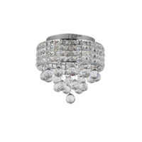 Zeev Lighting FM60014/4/CH Palatial 4 Light 11 inch Chrome Flush Mount Ceiling Light