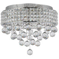 Zeev Lighting FM60015/6/CH Palatial 6 Light 16 inch Chrome Flush Mount Ceiling Light
