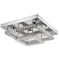 Ember LED 22 inch Chrome Flush Mount Ceiling Light