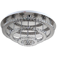 Ember LED 30 inch Chrome Flush Mount Ceiling Light