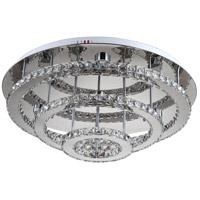 Zeev Lighting FM60022/LED/CH-RD Ember LED 30 inch Chrome Flush Mount Ceiling Light