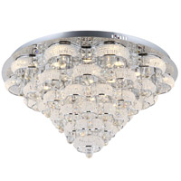 Zeev Lighting FM60023/LED/CH Imperial LED 31 inch Chrome Flush Mount Ceiling Light photo thumbnail