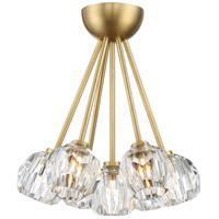 Zeev Lighting Cuspis 8 Light Chandelier In Brushed Copper