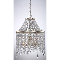 Palais 6 Light Silver Leaf Mini Chandelier Ceiling Light