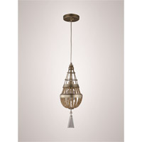 Arbelos 1 Light Soft Gold with Champagne Crystal Mini Pendant Ceiling Light