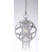 Cascade 1 Light Silver Leaf Mini Pendant Ceiling Light