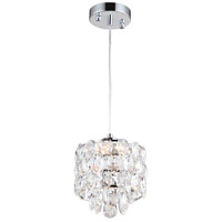 Belle LED 8 inch Chrome Mini Pendant Ceiling Light