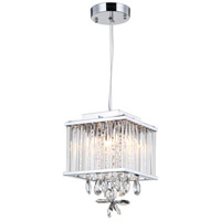 Zeev Lighting MP40020/4/CH-CL Easton 4 Light 8 inch Chrome Mini Pendant Ceiling Light