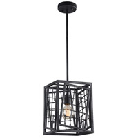 Plexus 1 Light 9 inch Rustic Iron Mini Pendant Ceiling Light