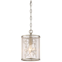 Zeev Lighting MP40032/1/BNS Vine 1 Light 7 inch Burnished Silver with Crystal Mini Pendant Ceiling Light photo thumbnail