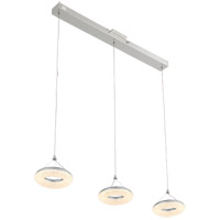 Zeev Lighting MP40034/LED/CH Orbit LED 8 inch Chrome Mini Pendant Ceiling Light